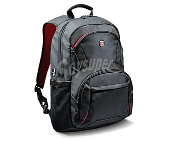 PORT HOUSTON Mochila Backpack, negra, compatible con portátiles de hasta 15,6""