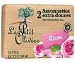 Pastillas de jabón de tocador con fragancia a rosas 2 x 100 g Le Petit Olivier
