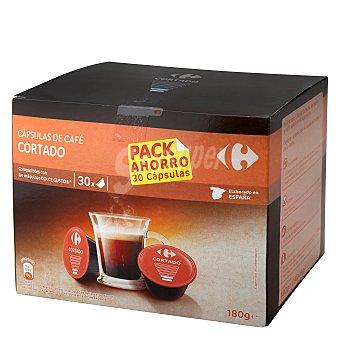 Dolce Gusto Nescafé Café cortado en cápsulas Carrefour compatible con 30 unidades de 7 g