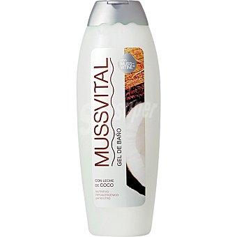 Mussvital gel de baño con leche de coco frasco 750 ml