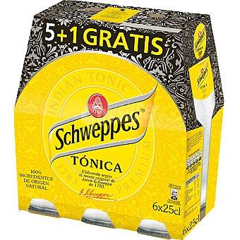 Schweppes Tónica + 1 gratis botella 25 cl Pack 5