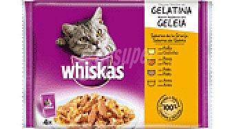 Whiskas Alim. gatos aves 4 paq 85 GRS