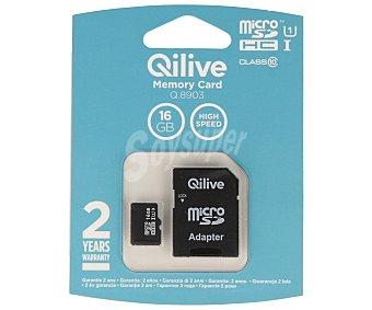 Qilive Tarjeta de memoria microsdhc 16GB clase 10 micro sdhc 16GB