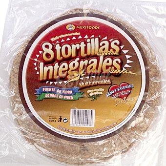 MEXIFOODS Tortitas integrales multicereales con aceite de oliva virgen extra envase 500 g 8 unidades