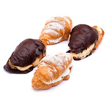 Mini croissant relleno de nata-crema Bandeja 6 unid