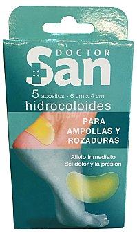 DOCTOR SAN Tiritas protectoras ampolla y rozaduras Paquete de 5 uds