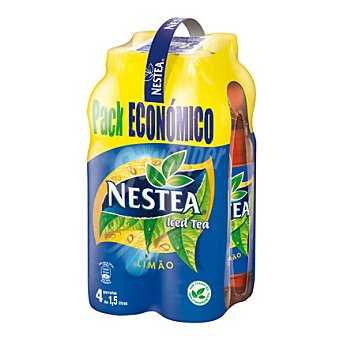 NESTEA refresco de té al limón pack ahorro 4 botella 1,5 l