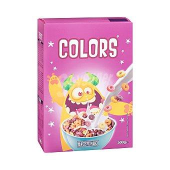 Hacendado Cereal aros colors sabor fruta Paquete 500 g
