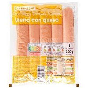 Eroski Salchichas con queso Sobre 200 g