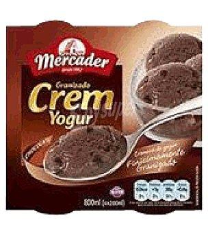 MERCADER Helado de Yogur Chocolate Pack de 4X150 g
