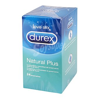 Durex Preservativos Natural Plus 24 ud