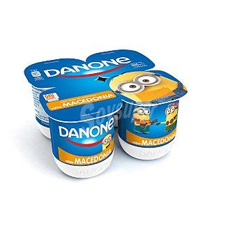 DANONE Yogur sabor macedonia pack 4 unds. 125 g