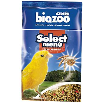 BIOZOO AXIS SELECT MENU Alimento completo para canarios Envase 1 kg