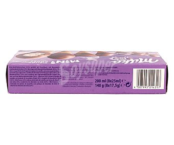 Milka Mini conos de vainilla y chocolate estuche 200 ml 8 unidades
