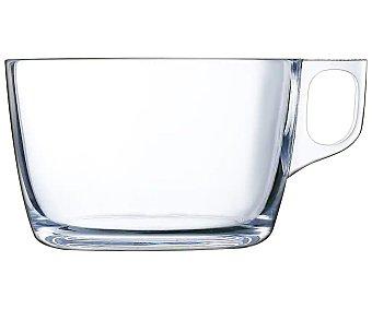 Luminarc Taza baja con asa fabricada en vidrio transparente, , luminarc 0,5 litros