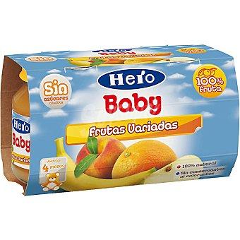 Hero Baby tarrito frutas variadas estuche 260 g pack 2x130 g