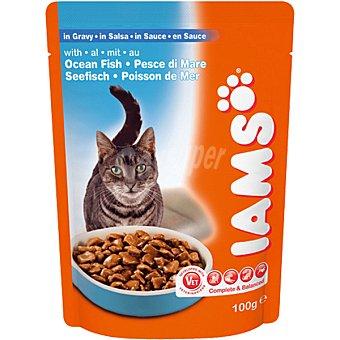 IAMS Pescado del océano en salsa para gatos bolsa 100 g Bolsa 100 g