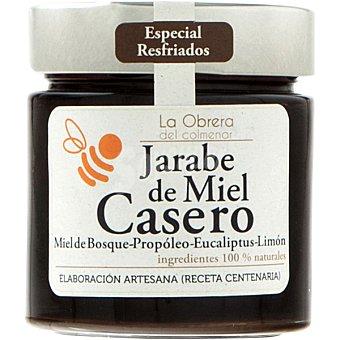 La obrera del colmenar Jarabe de miel casero miel del bosque propóleo eucaliptus y limón Tarro 300 g
