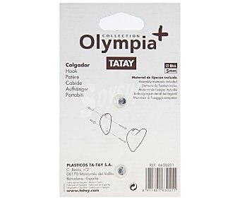 Tatay Colgador modelo Olympia, fabricado en Pvc blanco 1 Unidad
