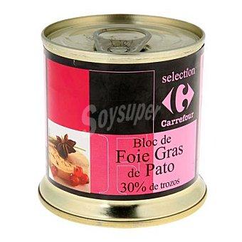 Carrefour Selección Bloc de foie gras de pato con 30% trozos 200 g