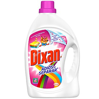 Dixan Detergente ropa líquido Adiós al Separar para máquina 40 lavados