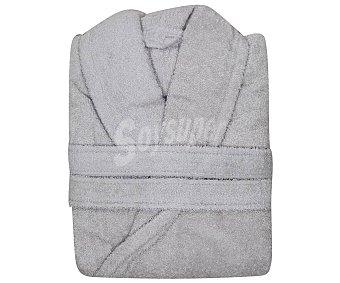 Actuel Albornoz adulto talla XL 100% algodón color gris plata, /m², actuel 380 g