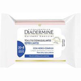 Diadermine Toallitas 3 en 1 20 unidades