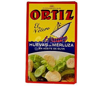 Conservas Ortiz Huevas de merluza en aceite de oliva Lata 80 g (peso escurrido)