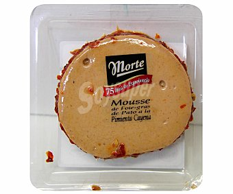 Morte Mousse de foie gras de pato con chile cayena precortado 80g