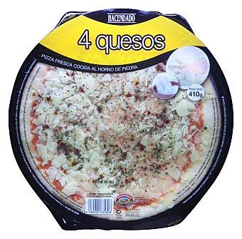 Hacendado Pizza fresca 4 quesos (emmental,mozarella,grana,cheddar) 420 g