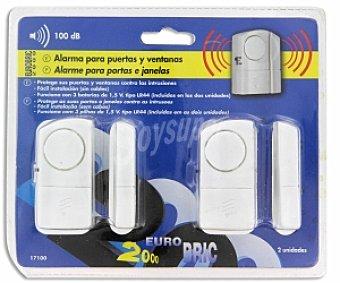 EUROBRIC 2000 Kit de 2 alarmas para puerta y ventana 1 Unidad