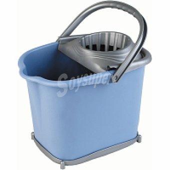 Eroski Cubo escurridor con ruedas azul Pack 1 unid