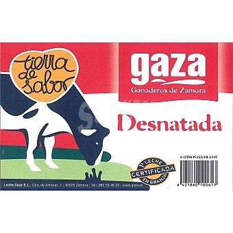 Gaza Leche Desnatada Brik 1 litro
