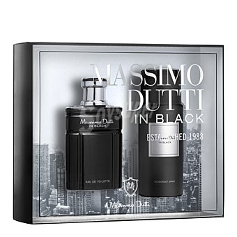 Massimo Dutti Estuche colonia In Black spray 100 ml. + desodorante 150 ml. 1 ud