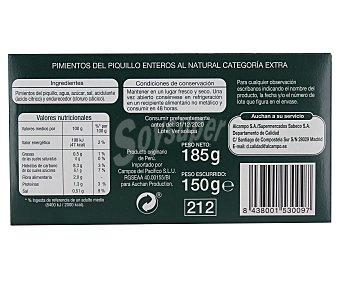 Auchan Pimientos del Piquillo enteros al natural de categoría extra 150 gramos