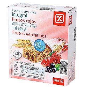 DIA Barritas cereales integral frutos rojos Caja 6 uds  (129 g)