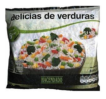 Hacendado Arroz delicias de verdura congelado Paquete 600 g