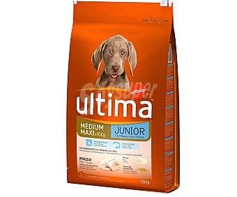 Ultima Affinity Comida seca para perros junior (2-12 meses) rica en pollo y arroz 7,5 kilogramos