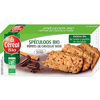 CEREAL BIO galletas de canela y pepitas de chocolate ecológicas envase 125 g