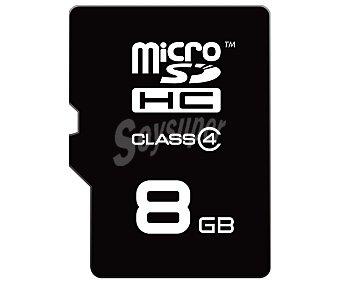 Emtec Tarjeta de memoria Microsd/hc 8GB microsd+adaptador a SD de alta velocidad, Clase 4