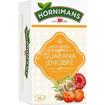 Hornimans Infusión herbal guaraná jengibre y frambuesa Estuche 20 unidades