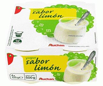 Auchan Yogur Sabor a Limón con Leche Entera 4x125g