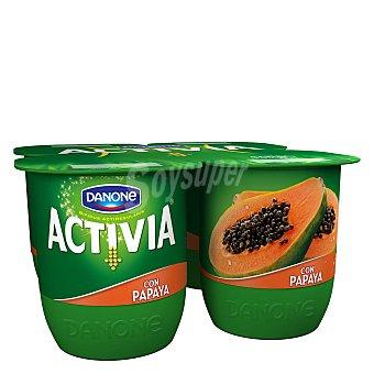 Activia Danone Activia con papaya 4 unidades de 125 g