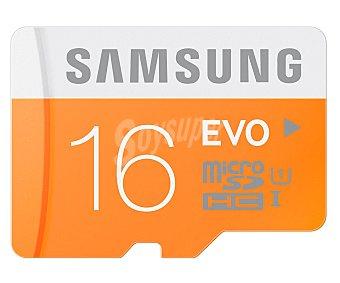 Samsung Tarjeta de memoria EVO microsdhc 16GB, de alta velocidad, 48MB/S clase 10.