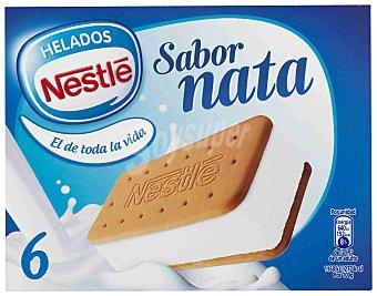 Nestlé Helado sandwich de nata Paquete de 6 u