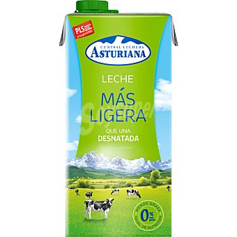 Central Lechera Asturiana Leche desnatada Más Ligera 0% Materia Grasa Envase 1 l