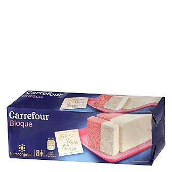 Carrefour Helado de nata y fresa 1 l