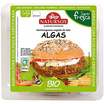 NATURSOY bio hamburguesa vegetal de tofu y algas envase 140 g