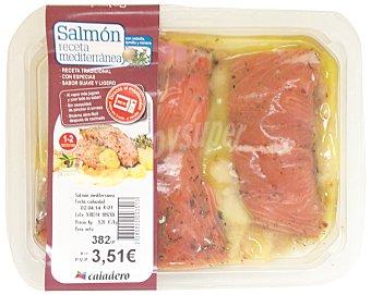 Caladero Salmon receta mediterranea fresco Bandeja 350 g