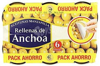 Hacendado Aceituna rellena anchoa U - 720 g